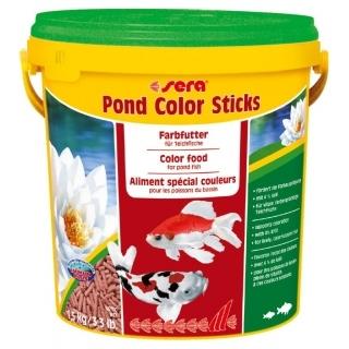 Sera pond color sticks 10л - корм для прудовых рыб