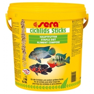 Sera cichlids Sticks для цихлид 10л (2кг).