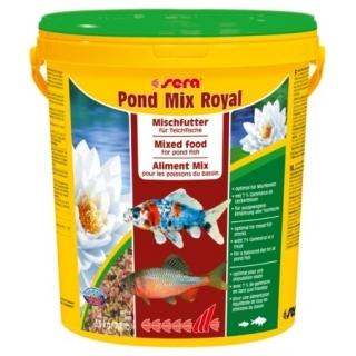 Sera pond mix royal 21 л - смесь кормов для прудовых рыб