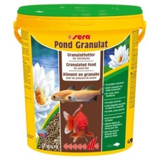 Sera pond granulat 21л - гранулированный корм для прудовых рыб