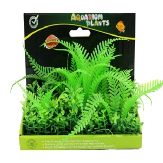 Искусственное аквариумное растение 15см, в картонной коробке