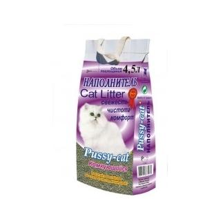 Pussy-cat 4.5л комкующийся наполнитель (фиолетовый)