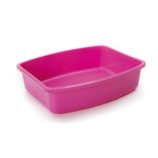 """Туалет """"SAVIC"""" """"Oval tray"""" для кошек, средний, розовый"""