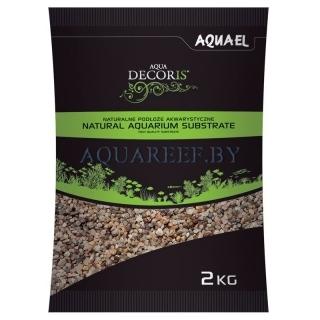 Aquael substrate, Естественный разноцветный гравий 2 кг, 3-5 мм