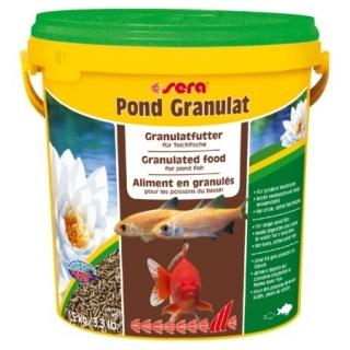 Sera Pond Granulat 10 л - гранулированный корм для прудовых рыб