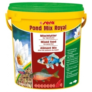 Sera pond mix royal 10 л - смесь кормов для прудовых рыб