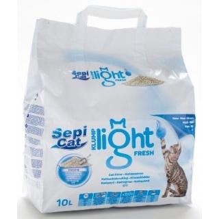 """Наполнитель для кошачьего туалета """"Sepicat KLUMP LIGHT FRESH SPA"""", комкующийся, 10л"""