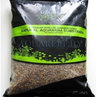 Aquael substrate, Естественный разноцветный гравий 10 кг, 1,4-2 мм