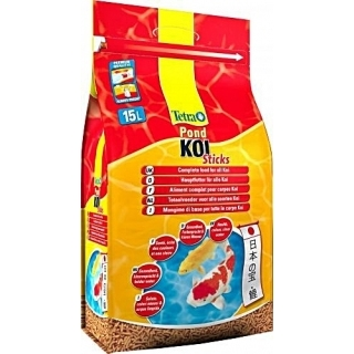 Tetra Pond Koi Sticks 15 литров - корм для прудовых рыб