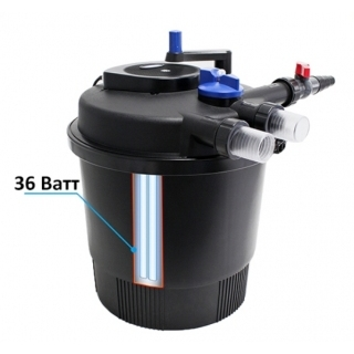 SunSun CPF-20000, Прудовый напорный фильтр с УФ-лампой 36 Вт, с обратной промывкой