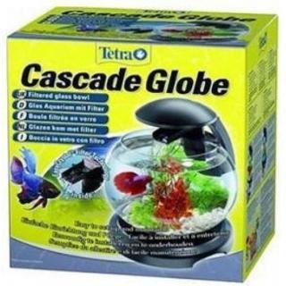 Tetra Cascade Globe Glas - Аквариум с фильтром и водопадом 6,8л черный
