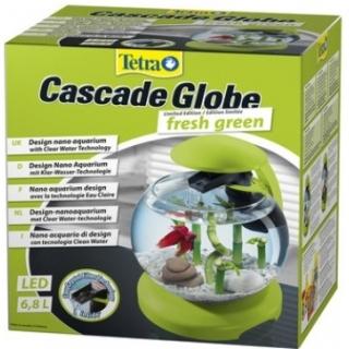 Tetra Cascade Globe Glas - Аквариум с фильтром и водопадом 6,8л зелёный
