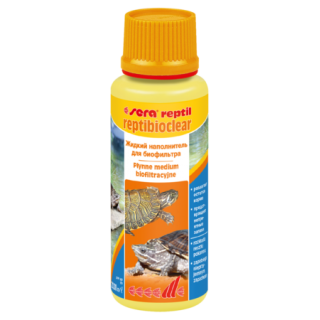 Sera reptibioclear 100 мл. Кондиционер для воды в аква-биотопах для рептилий.