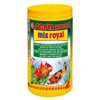 Sera Pond Mix Royal 1 литр смесь кормов для прудовых рыб