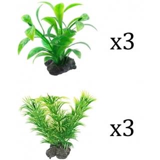 Tetra Plantastics XS Green- набор искусственных растений