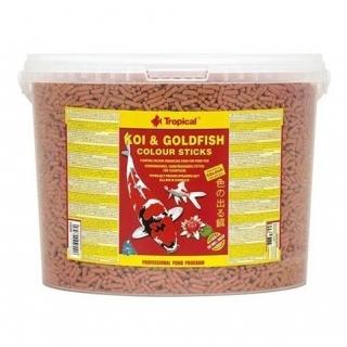 Tropical Koi & Goldfish Colour Sticks 11 литров - корм для прудовых рыб